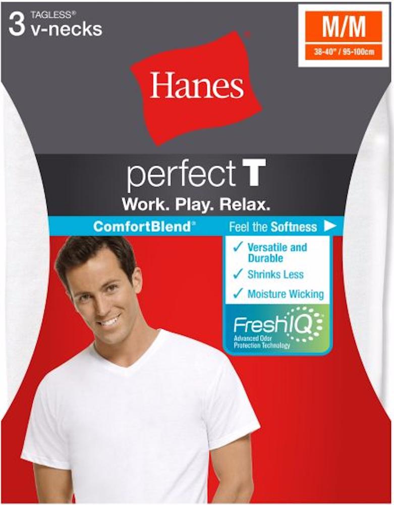 c19128d9c86c Hanes USA ComfortBlend® Perfect T V-Neck Undershirt 3-Pack – Toms Cabin