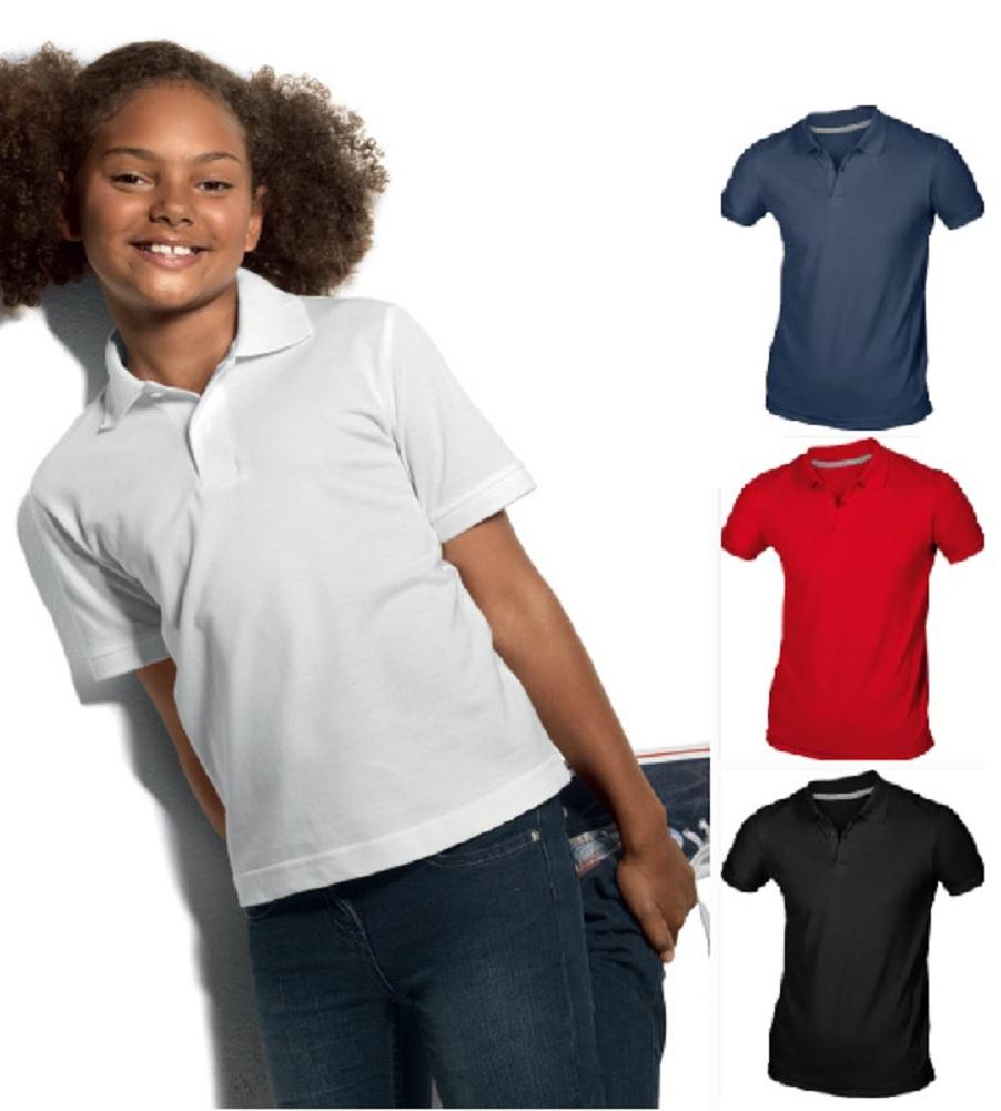 406bbe6bb Hanes Childs Boys Girls Plain Organic Cotton Polo Sports School Shirt No  Logo